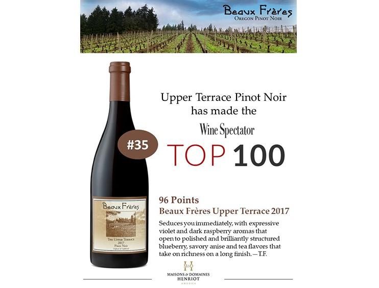 winespectator-beauxfreres-upperterrace-maisonsetdomaineshenriot-oregon-pinotnoir-top100
