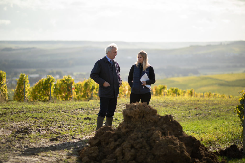 allianceterroir-champagnehenriot-terroirschampenois-excellenceviticole-excellenceoenologique-preservationduvignoblechampenois-gillesdelarouziere-alicetetienne-fossespedologiques-etudedessols